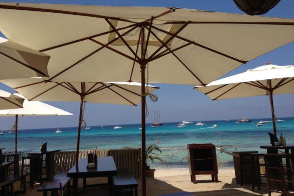 Formentera baai voor El Tiburon